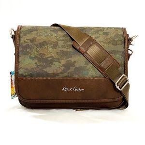 ROBERT GRAHAM Mens Compact Messenger Bag Olive